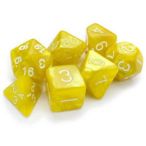 Series II Wiz Dice Set of 7 Polyhedral Dice - Includes Bonus Velvet Pouch! (Kings Ransom)