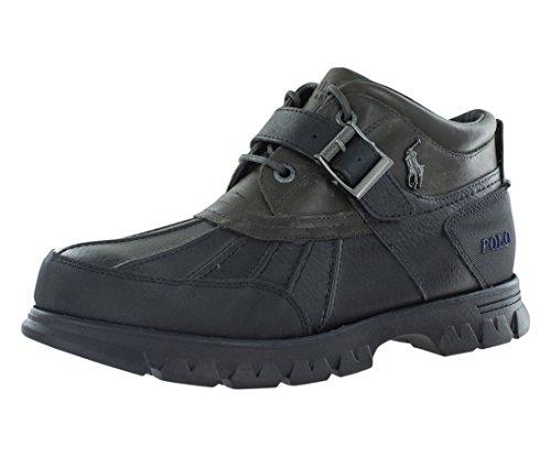 Polo Ralph Lauren Men's Dover III Boot,Black/Grey,11 D - Polo Boots Men Lauren Ralph