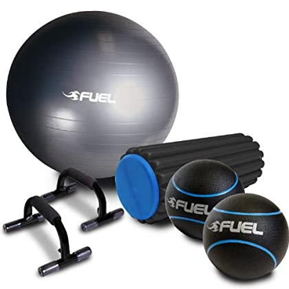 Image of CAP Barbell Fuel Performance Deluxe Core Training Set Exercise Balls