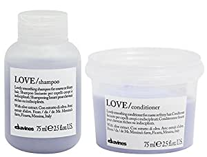 Davines Love Lovely Smoothing Travel Set: Shampoo & Conditioner 2.5 Oz Each