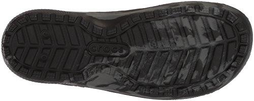 Crocs Unisex Classic Swirl Slide GS Sandal, Black, 2 M US Little Kid by Crocs (Image #3)