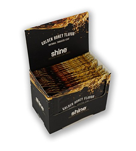 Golden Wrap (Shine Golden Honey Leaves Natural Shade Rolling Leaf Wrap Paper Thin Grape 3 per pack BOX OF 16)