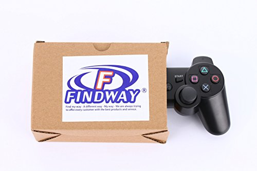 Findway Wireless Bluetooth Controller for PlayStation 3 PS3 Double Shock (Black)