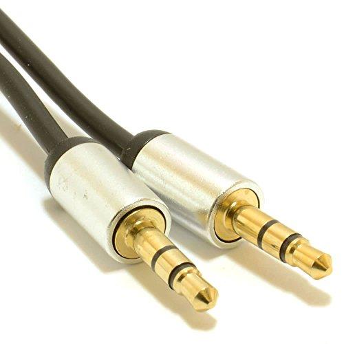 Aluminium 2m lang 3,5mm auf 3,5mm AUX Audio Jack zu Jack Kabel für-Bose Sounddock XT Lautsprecher/zum Verbinden mit MP3, Handys, Tablets, Laptop, PC
