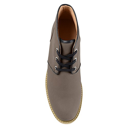 Territory Mens Bryan Lace-up Faux Suede Chukka Boots Grey OHO67M