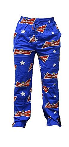 Budweiser Mens Blue Knit Sleep Pants Lounge Pants Pajama Bottoms Large