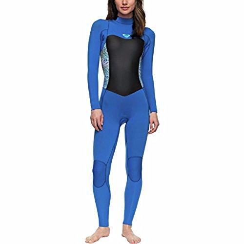 Roxy Womens 3/2Mm Syncro Series - Back Zip GBS Wetsuit - Women - 4 - Blue Sea Blue Ii - Back Gbs Zip