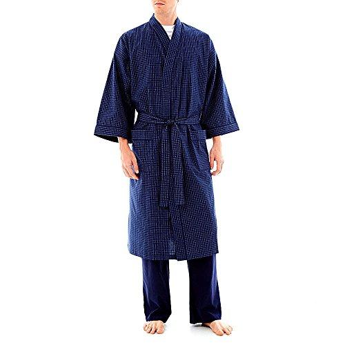 Stafford men 39 s big and tall lightweight kimono robe for Stafford big and tall shirts