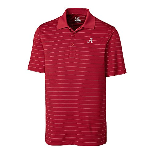 NCAA Alabama Crimson Tide Men's CB Dry Tec Franklin Stripe Polo,X-Large,Cardinal Red]()