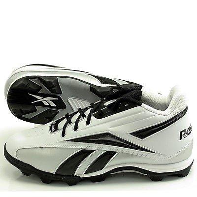 Reebok NFL Thorpe MID 20-137658 Adult Male Football Cleats 15M White/Black/Silver