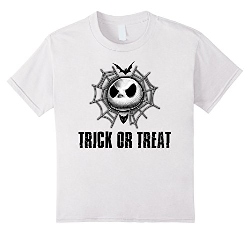 Kids Disney Jack Skellington Trick or Treat Web T-shirt 4 White ()