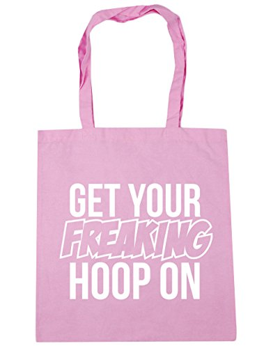HippoWarehouse Get Your Freaking aro en bolsa de la compra bolsa de playa 42cm x38cm, 10litros Classic Pink