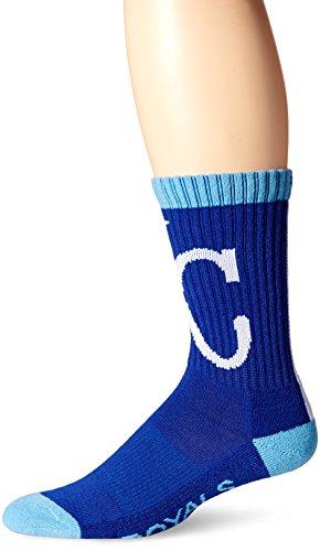 MLB Kansas City Royals Men's Bolt Sport Casual Dress Crew Socks (1 Pack), Medium, (Mlb Dress)