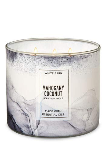 (White Barn MAHOGANY COCONUT 3 wick scented candle)