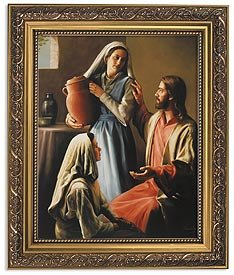 US Gifts Lindsley: Jesus,Mary and Martha Series Gold Finish Frame David Lindsley