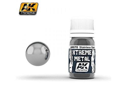 AK Interactive 30ml Extreme Metal Paints Stainless Steel # 670