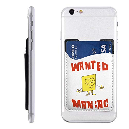 Spongebob Squarepants Silicone 3M Adhesive Stick-on ID Credit Card Wallet Phone Case Pouch Sleeve Pocket (Case Touch Ipod 5 Spongebob)