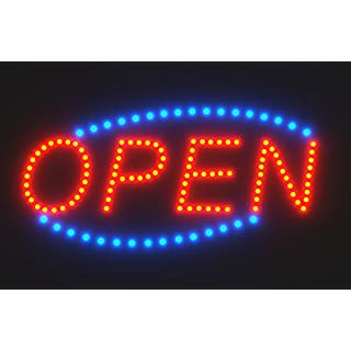 Open sign with remote control do it yourselfore springrose giant led open sign by spring rose 24x13 animated business billboard solutioingenieria Choice Image