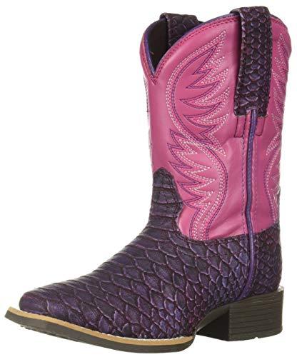 Western Calf Footwear - Ariat Baby Brumby Western Boot, Legarto Lavender, 9 M US Toddler