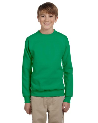 Hanes Youth ComfortBlend EcoSmart Crewneck Sweatshirt, Kelly Green, M (Crewneck Sweatshirt Comfortblend Youth)