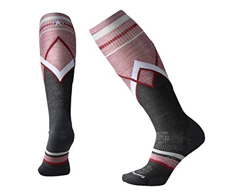 Smartwool Women's PhD¿ Ski Ultra Light Pattern Charcoal - Knee Warmers Smartwool
