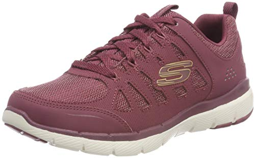 Donna 3 Sneaker Skechers billow Burgundy burgundy 0 Flex Appeal Rosso qYAwS4f