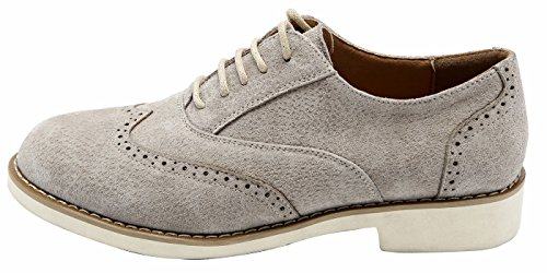 Weight Shoes Light Sole Light Grey Grey up EVA lite Comfortable Suede Ulite U Perforated Lace Oxfords Leather Womens Stone BwRx1