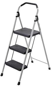 Gorilla Ladders 3 Step Lightweight Steel Step Stool Ladder