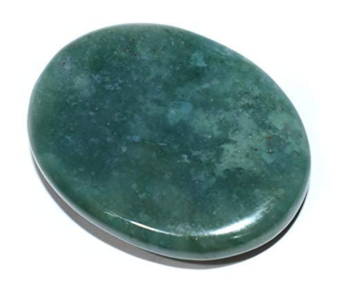Pyramid Tatva Worry/Thumb Stone - Green Aventurine 1 + 1 Natural Healing Crystal Reiki Chakra Stone