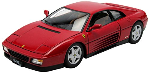 1989 Ferrari 348 TB Red Elite Edition 1/18 by Hotwheels (18 Mattel Ferrari)