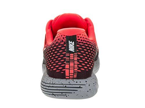 Nike Men Lunarglide 8 Shield Running Shoe – Bright Crimson 12, Bright Crimson Metallic Silver