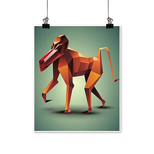 - Canvas Prints Wall Art Vector Polyg al BABO Orange Green Artwork for Wall Decor,24