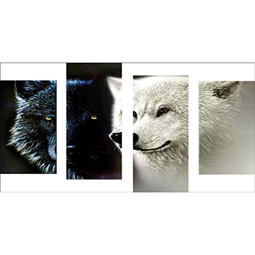Fenebort 5D DIY Diamond Painting by Numbers Kits,Full Drill DIY 5D Diamond Painting Embroidery Cross Crafts Stitch Kit Home Decor,Daisy,Wolf, Easter Day Gifts, 80x40cm ()