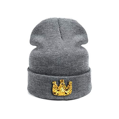 New DIY Baby Hat Skullies Beanies for Children Dark Yellow Crown ()