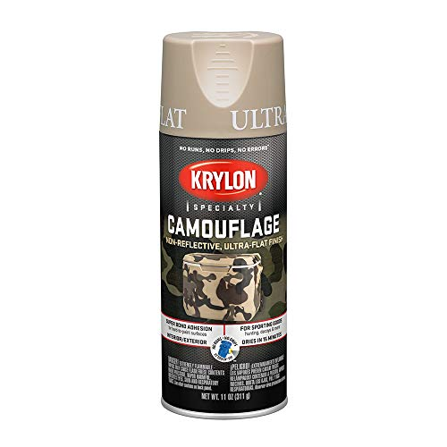 Krylon K04295000 Camouflage With Fusion For Plastic Paint Technology Aerosol Spray Paint, 11-Ounce, Camouflage Sand