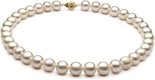 White 10-11mm AA Quality Freshwater Cultured Pearl Necklace
