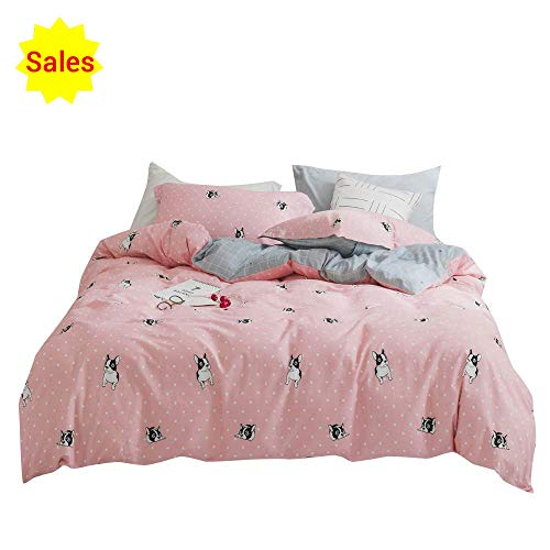 - OTOB Reversible Children Bedding Sets for Boys Girls Kids Teens, Animal Cartoon Puppy Dogs Duvet Cover Queen Full Bed Sets Gifts