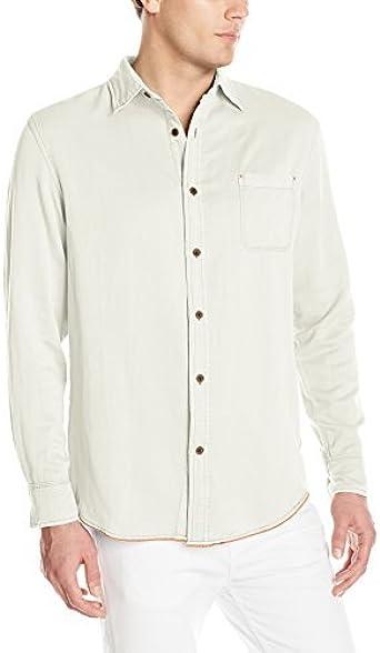 Margaritaville Mens Long Sleeve Dobby Shirt