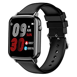 Smart Watch, Full Touch Screen Fitness Tracker with Heart Rate Sleep Monitor, Ip67 Waterproof Bluetooth Smartwatch for…