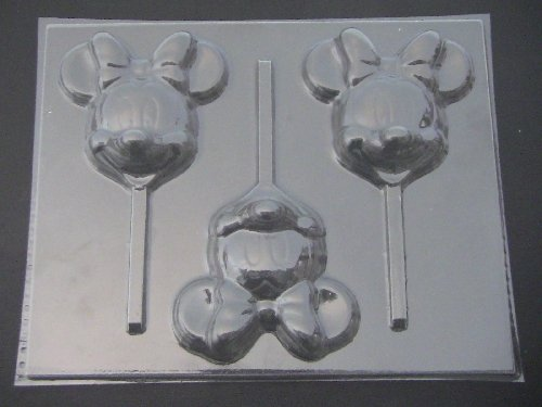 Large Famous Female Mouse Face Chocolate Candy Lollipop Mold