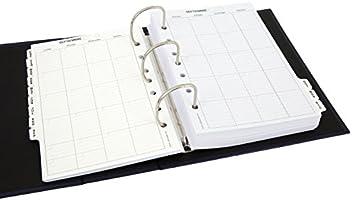 Recambio anual de 365 días y 12 meses vista a doble página ...