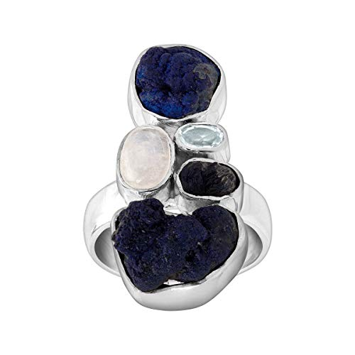 Silpada 'Pacific' Natural Mixed Blue Stone Ring in Sterling Silver