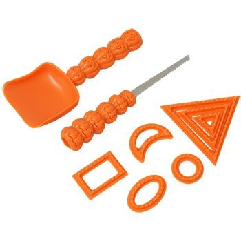 Happy Halloween Pumpkin Carving Tools - Sculpting Kit (9 Tool Set) for Jack-O-Lanterns and More Home Kitchen Decor