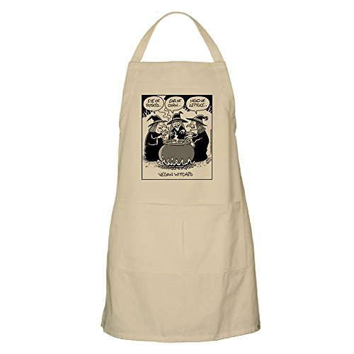 CafePress Vegan Witches Apron Kitchen Apron with Pockets, Grilling Apron, Baking Apron