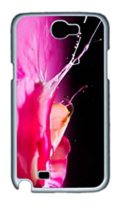 good covers apple splash pink liquid PC White case/cover for samsung galaxy N7100/2