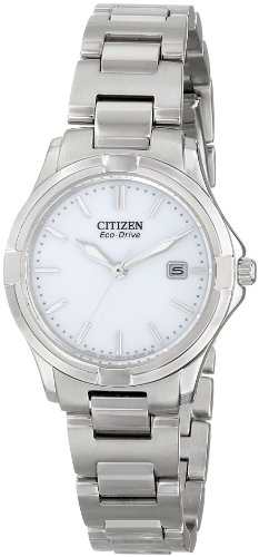 Citizen Eco-Drive Women's EW1960-59A Silhouette Sport Silver-Tone Watch