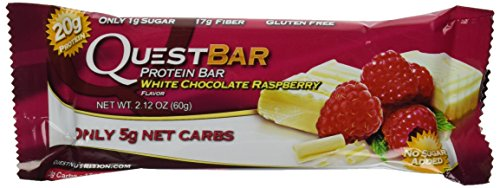 Quest Bar White Chocolate Raspberry - Box of 12 (25.44 oz each, 2 Pack)