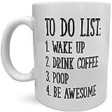 Lustig Coffee Mug, Fun Mugs & Fun Gag Gift for Coworker | Awesome Coffee Mug & Funny Gag Gifts for Office | Novelty Coffee Mugs, Funny Coffee Cup