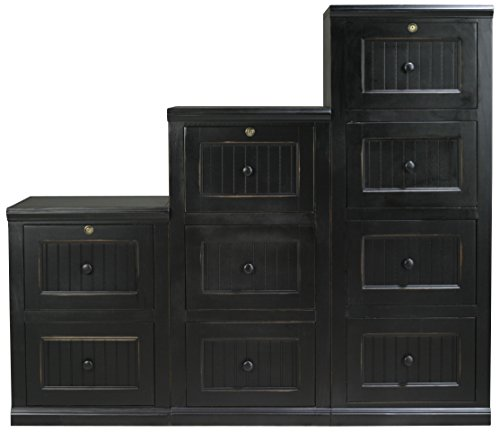 Eagle Coastal 2 Drawer File Cabinet, Iron Ore Finish 2 Drawer Birch Cabinet
