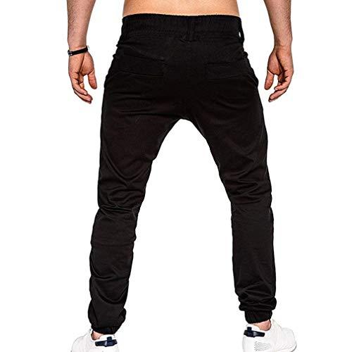 Cómodo Hombres Los Libre Sportwear Pantalones Deportes De Battercake Al Joggers Carga Harén Elásticos Negro Holgados Casuales Dance Aire tfIYZw